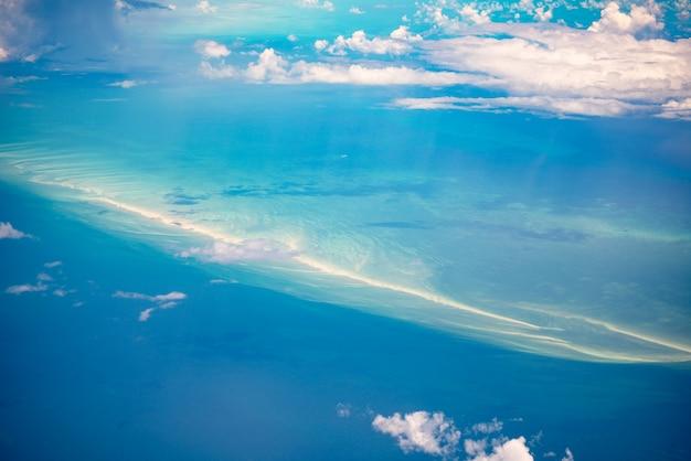 Vista aerea delle bahamas Foto Premium