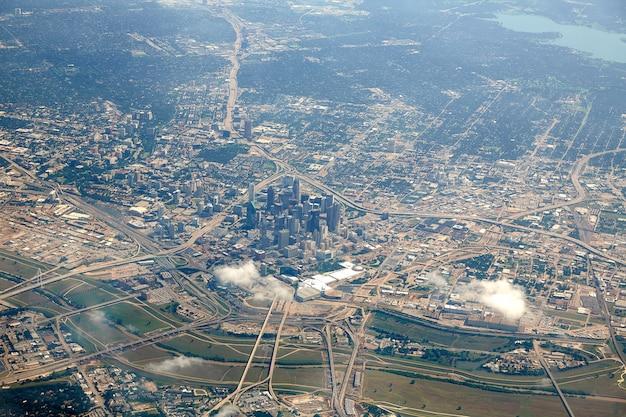 Vista aerea di dallas nel texas usa Foto Premium