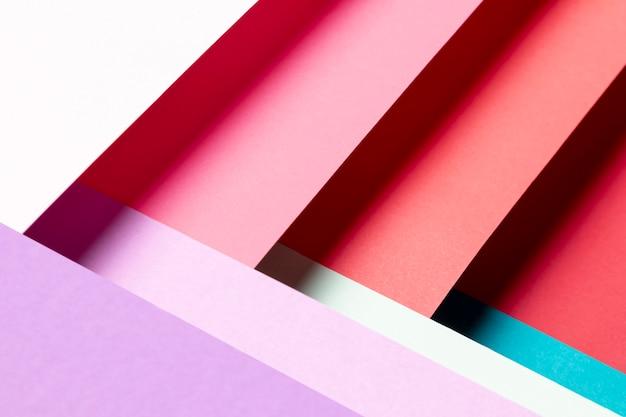 Vista dall'alto con diversi colori di primo piano Foto Gratuite