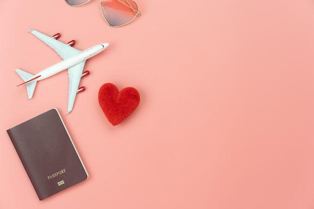 Vista dall'alto del concetto di viaggio Foto Premium