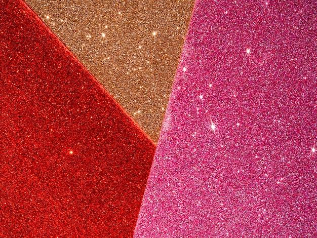 Vista dall'alto di glitter sfondo Foto Gratuite