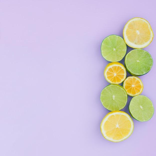 Vista dall'alto gruppo di limone Foto Gratuite
