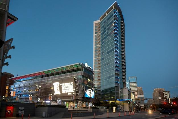 Vista degli edifici moderni della città, dallas, texas, usa Foto Premium