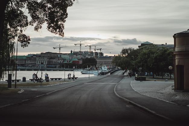 Vista del paesaggio urbano. paesaggi di stoccolma, svezia. Foto Gratuite