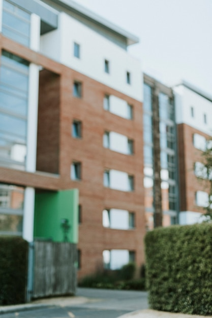 Vista esterna dell'appartamento inglese moderno Foto Gratuite