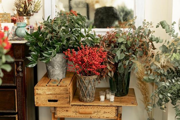 Vista frontale bellissimi fiori in vasi Foto Gratuite