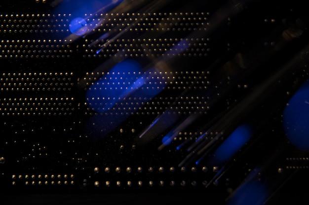 Vista posteriore dello switch di rete Foto Gratuite