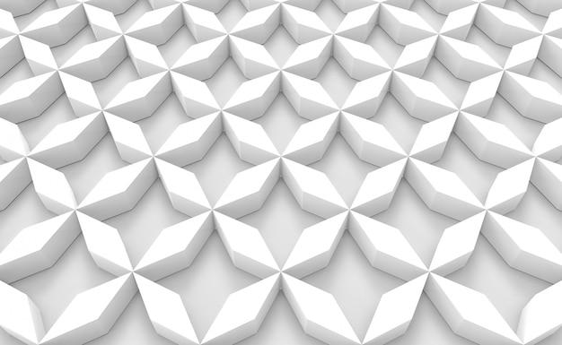 Vista prospettica di sfondo bianco di disegno del pavimento oggetto griglia. Foto Premium