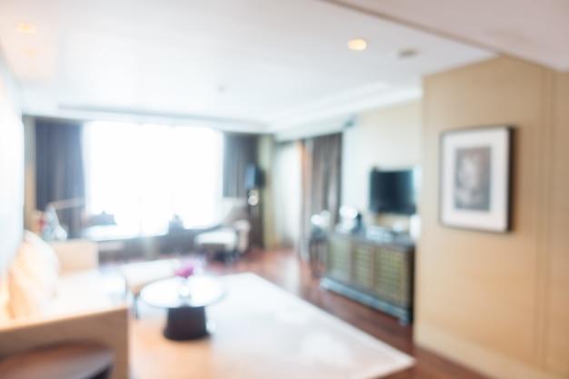 Vista sfocata di soggiorno con tappeto bianco scaricare foto gratis