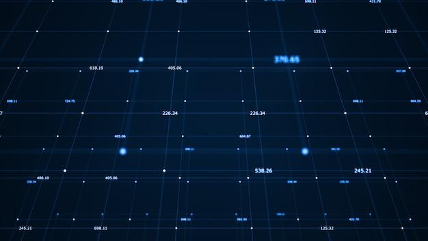 Visualizzazione di grandi quantità di dati. algoritmi di apprendimento automatico. Foto Premium