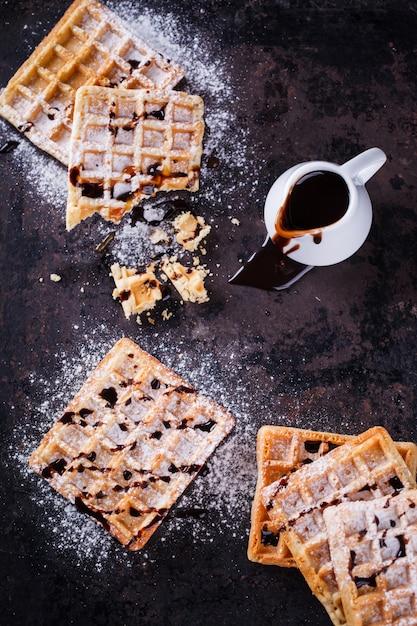 Waffle belgi Foto Premium