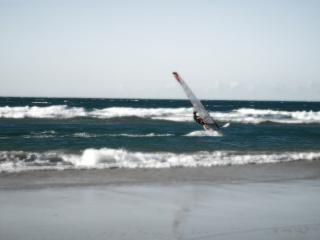 Windsurf in onde Foto Gratuite