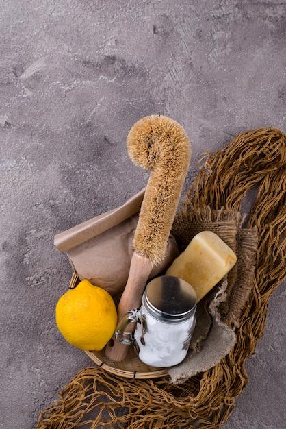 Zero rifiuti accessori naturali per la pulizia Foto Premium
