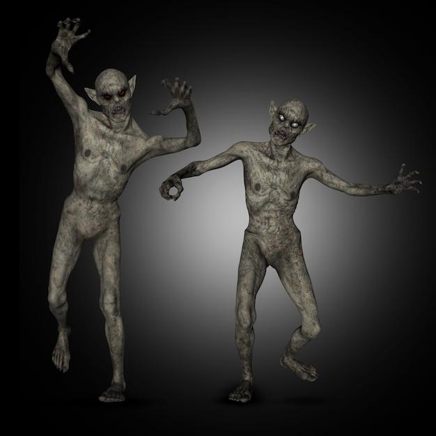 Zombie di halloween 3d Foto Gratuite
