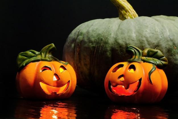 Zucche decorative di halloween Foto Premium