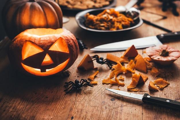 Zucche di halloween Foto Premium