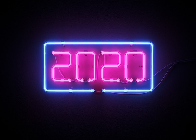 2020 feliz ano novo banner Foto Premium