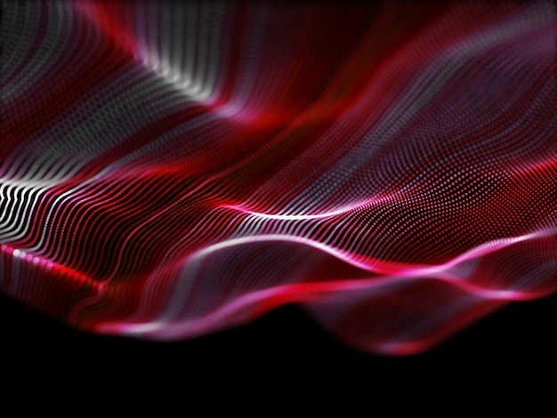 3d abstrato com partículas fluidas Foto gratuita