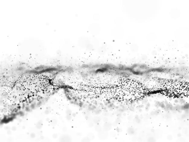 3d abstrato fluindo fundo de partículas Foto gratuita