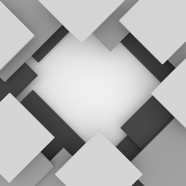 3d abstrato geométrico Foto gratuita