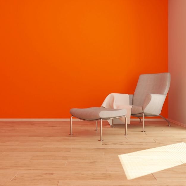 3d contemporânea sala interior e mobiliário moderno Foto gratuita