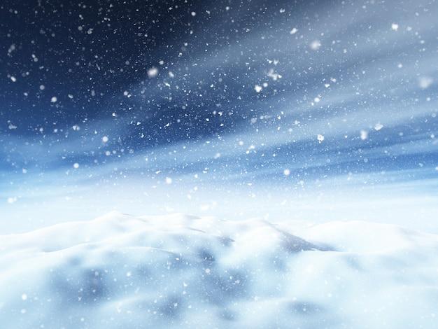 3d paisagem de natal nevado Foto gratuita