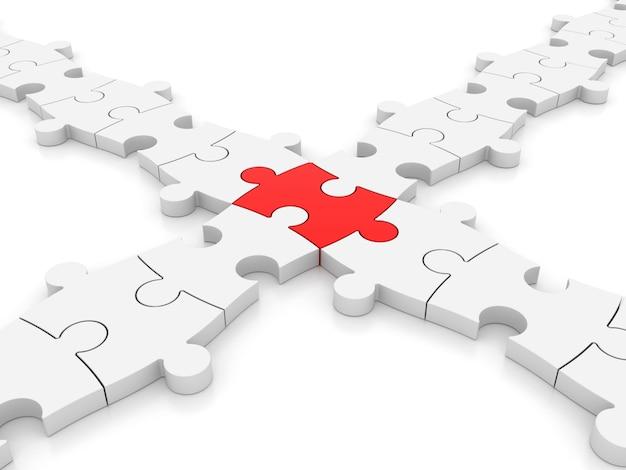 3d puzzle Foto Premium