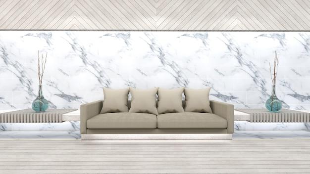 3d rendem do modelo interior da sala de estar Foto Premium