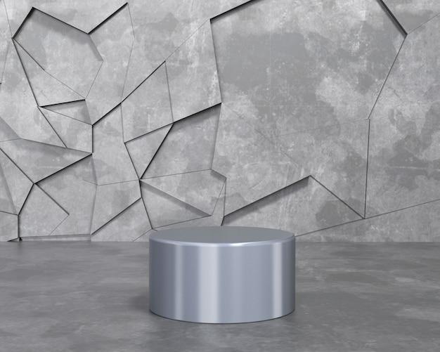 3d render abstract background vazio pódio, pedestal, cena Foto Premium
