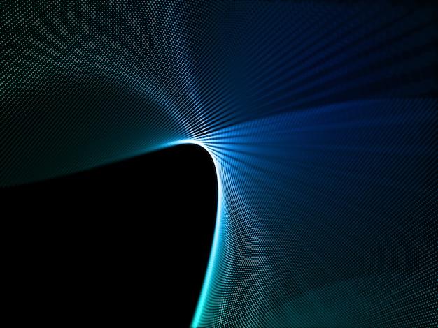 3d render de um fundo abstrato com desenho de partícula digital Foto gratuita