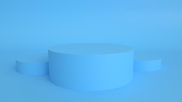 3d render poduim produto showcase fundo pastel Foto Premium