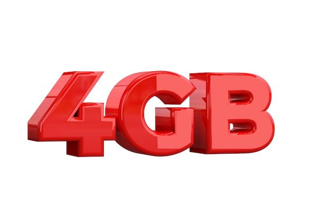 4 gb de capacidade de armazenamento Foto Premium
