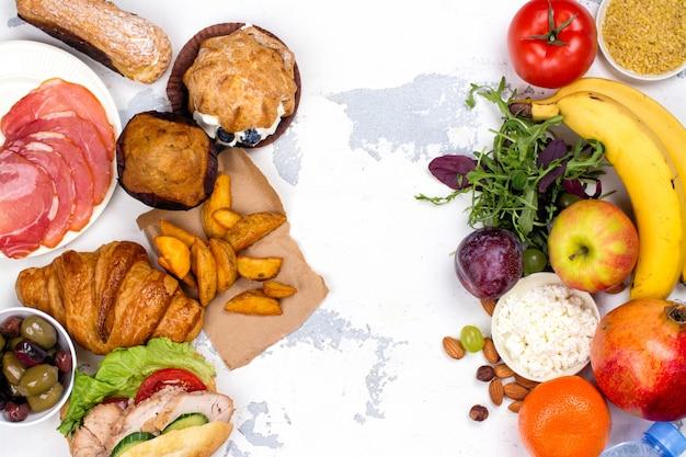 5: 2 conceito de dieta em jejum Foto Premium