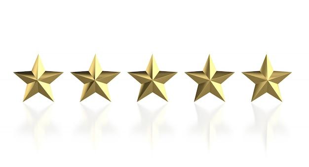 5 estrelas douradas Foto Premium