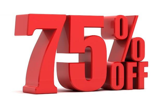 75 por cento de promoção Foto Premium
