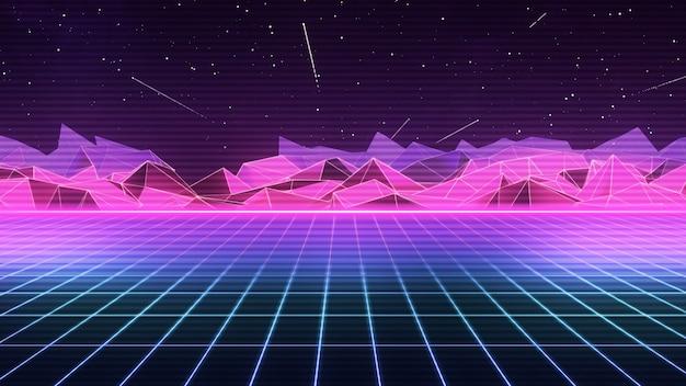 80 s futuristic retro synthwave Foto Premium