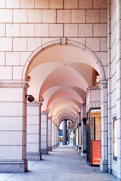 A, arqueado, passagem, em, centro comercial, em, sapporo, hokkaido, japão Foto Premium