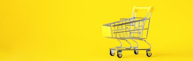 A cesta do trole do carrinho de compras está vazia. desconto de concepção. Foto Premium
