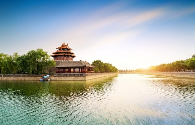 A cidade proibida em pequim, china Foto Premium