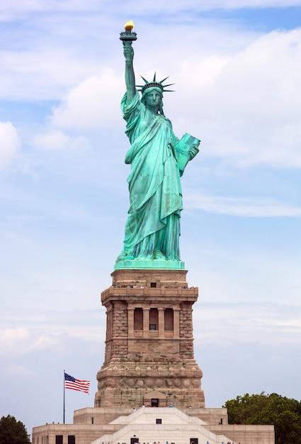 A, estátua liberdade, em, cidade nova iorque Foto Premium