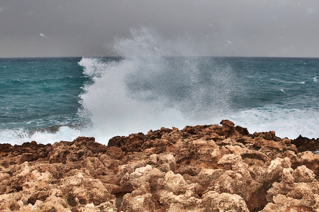 A parede em batroun, líbano Foto Premium