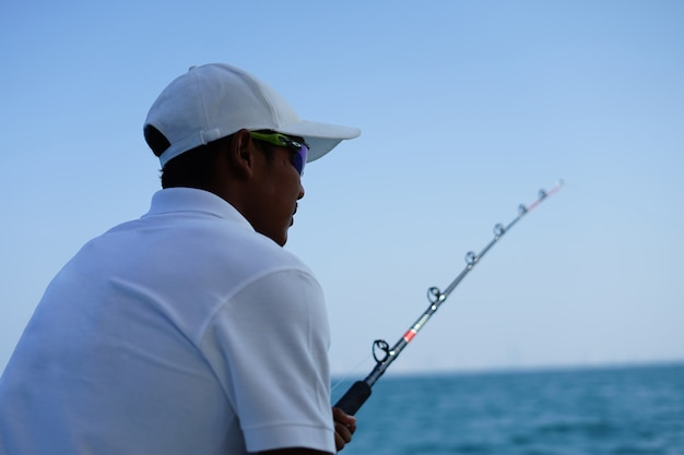 A pesca no yachi é uma atividade recreativa Foto Premium