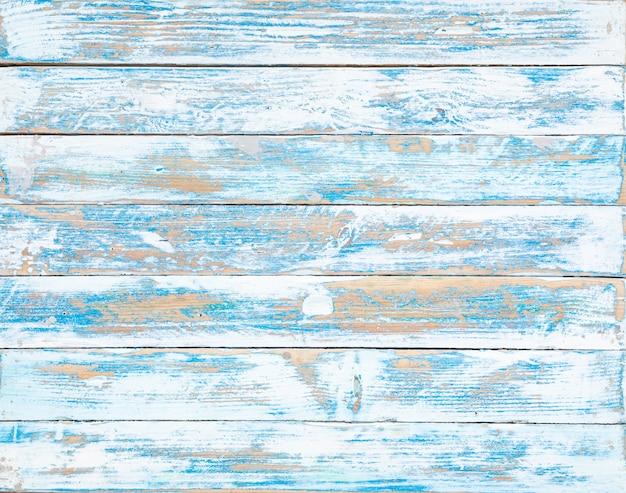 A textura de madeira antiga azul com padrões naturais Foto Premium