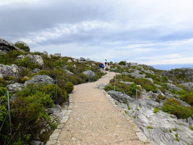A vista no topo da table mountain, cidade do cabo, áfrica do sul Foto Premium