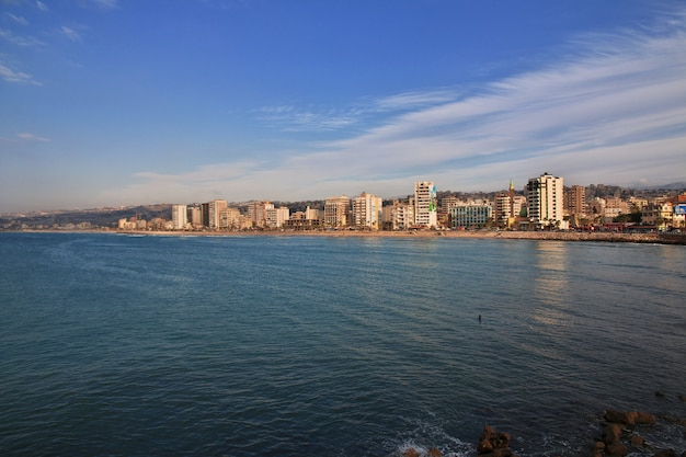 A vista sobre sidon (sayda), líbano Foto Premium