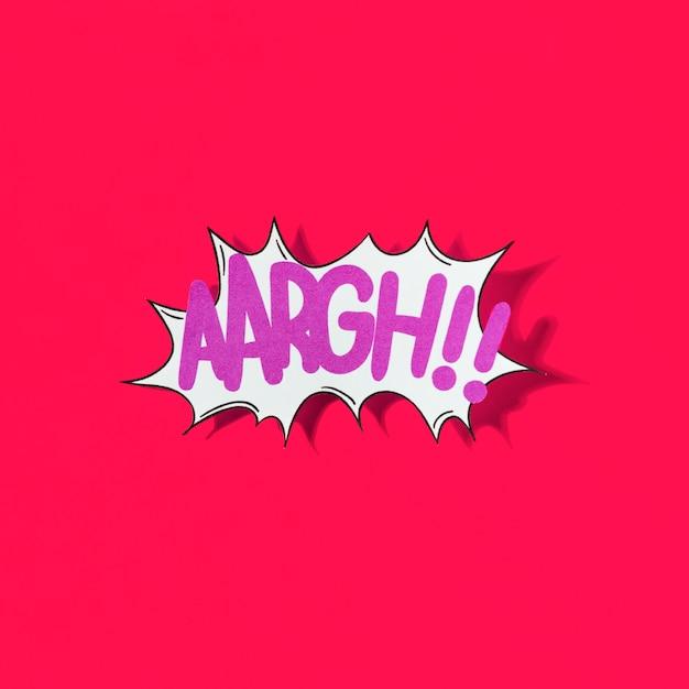 Aaargh !! efeito de quadrinhos palavra sobre fundo vermelho Foto gratuita