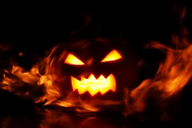 Abóbora em chamas Foto gratuita