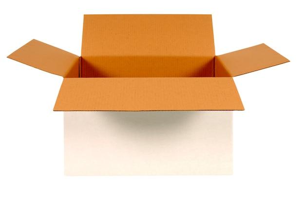 Abra a caixa de papelão branco Foto gratuita