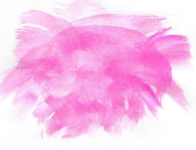 Abstrata aquarela rosa sobre fundo branco Foto Premium