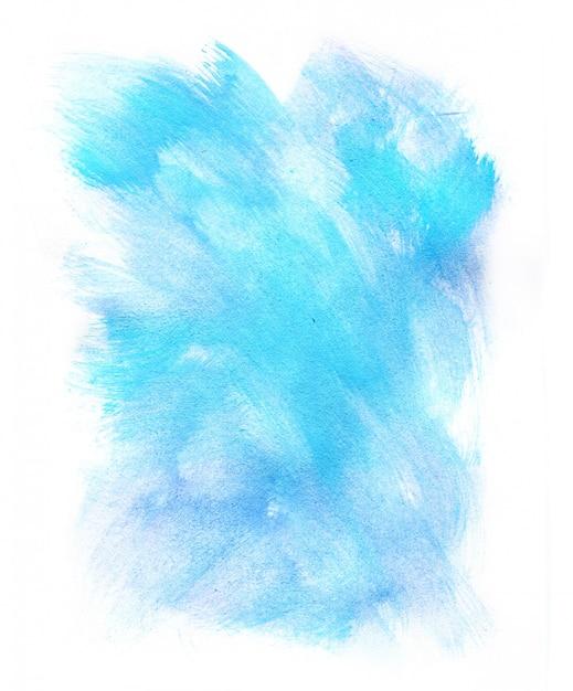 Abstrata azul aquarela sobre fundo branco Foto Premium